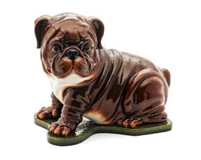 Bulldog 29.5 cm - Sculpture - Brown