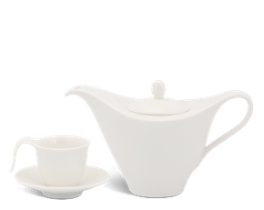 Coffee set 0.45 L - Harmony - White Ivory