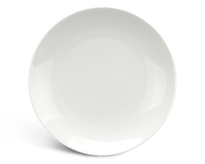 Flat round plate 28 cm - Daisy LY'S - White Ivory