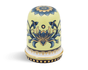 Toothpick jar 8 cm + lid - Jasmine - Royal Lotus