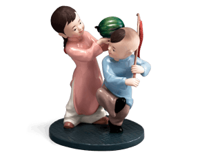The welcome of spring - Sculpture - Figurine