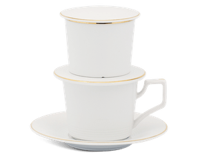 Coffee filter set (cup 0.17L) - Camellia - Gold Line