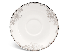 Saucer 15.5 cm - Queen Decorated platinum