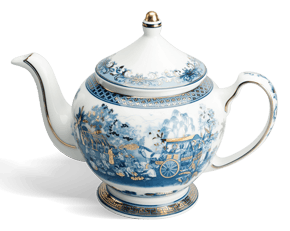 Tea pot 0.8 L + lid - Palace - Homeland's spirit (gold line)