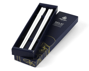 Porcelain Chopsticks 24.4 cm (2 pairs/box) - White ivory