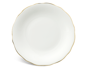 Round plate 22 cm - Peony IFP - Gold line