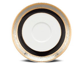 Soup bowl saucer 15 cm - Jasmine - Rose (black-emboss)