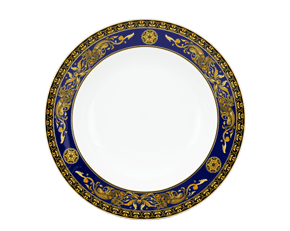 Round plate 28 cm - Palace - King Blue (dragon)