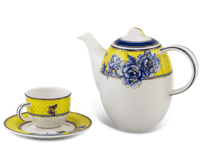 Coffee set 0.8 L - Sago - Yellow Peony