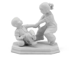 Childhood's memory - Sculpture - White