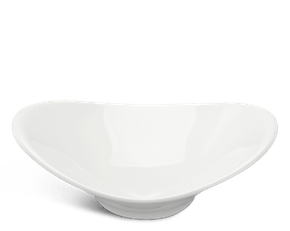 Shallow oval bowl 26 x 19 cm - Harmony LY'S - White Ivory