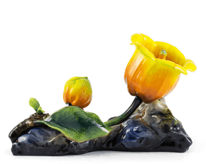 Bell Flower 30 cm - Yellow (flat stone)