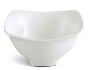Square soup bowl 12 cm - Jasmine LY'S - White Ivory