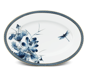 Oval plate 37 cm - Palace - Gold Lotus 1