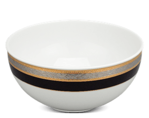 High soup bowl 19 cm - Sago - Rose (black-emboss)