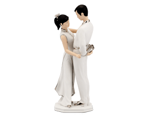 The sign of love - Sculpture - Decorated platinum