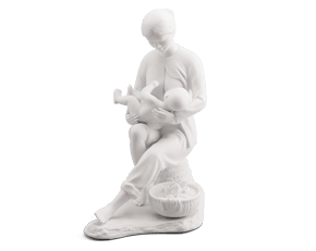 Devoted of life - Sculpture - White