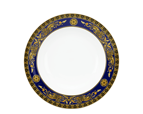 Round plate 20 cm - Palace - King Blue (dragon)