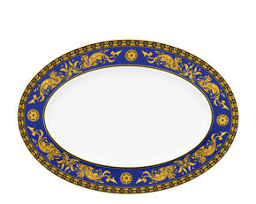 Oval plate 37 cm - Palace - King Blue (dragon)
