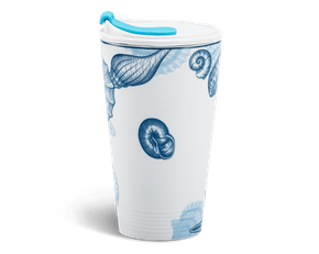 Porcelain Tumbler 0.48L and Straw Lid (Type 1) - Ocean