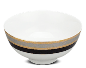 Soup bowl 11.5 cm - Jasmine - Rose (black-emboss)