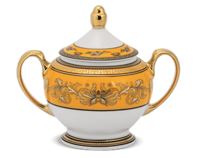 Sugar bowl 10 cm + lid - Palace - King Yellow (Lotus)