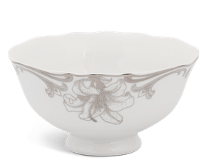 Soup bowl 11.5 cm - Queen Decorated platinum