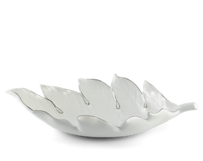 Fruit Plate - Breadfruit leaves 42.5 cm (Platinum line)