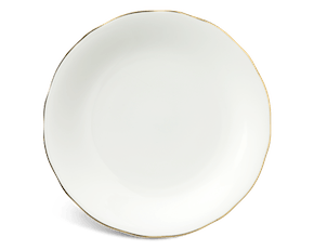 Round plate 27 cm - Peony IFP - Gold line
