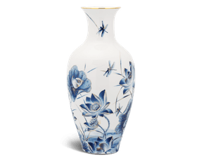 Flower vase 40 cm - Golden Lotus