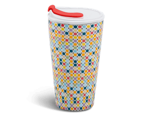 Porcelain Tumbler 0.48L and Straw Lid (Type 1) - Mosaic (LTD)