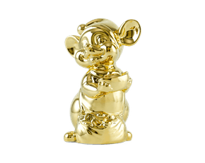 Precious 16 cm – Sculpture - Gold Plated Mouse