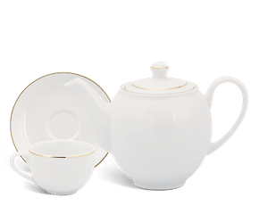 Tea set 0.8 L - Camellia - Gold line