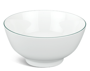 High soup bowl 18 cm - Jasmine - Green line