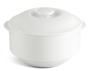 Soup cup 9.7 cm + lid - Jasmine LY'S - White Ivory