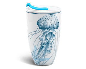 Porcelain Tumbler 0.48L and Straw Lid (Type 3) - Ocean