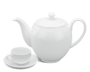Tea set 1.1 L - Camellia - White