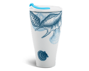 Porcelain Tumbler 0.48L and Straw Lid (Type 2) - Ocean