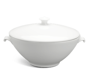 Soup tureen 3.0 L + lid - Daisy LY'S - White Ivory