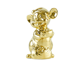 Precious 10 cm – Sculpture - Gold Plated Mouse