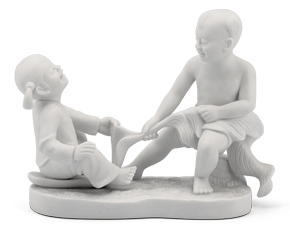 Effort for pulling - Sculpture - White