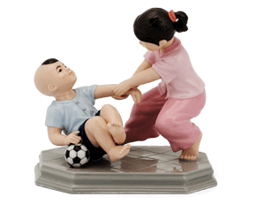 Childhood's memory - Sculpture - Figurine