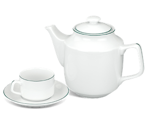 Tea set 1.1 L - Jasmine - Green line