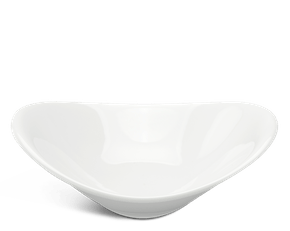 Oval soup bowl 13.5 x 11 cm - Harmony LY'S - White Ivory