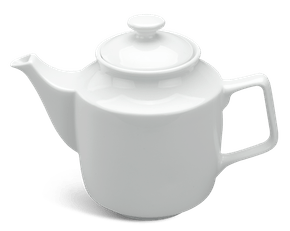 Tea pot 1.1 L + lid - Jasmine - White