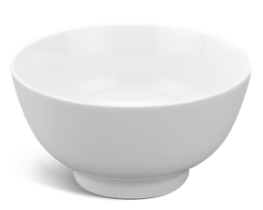 High soup bowl 15 cm - Jasmine - White