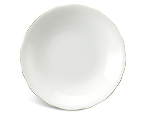 Deep round plate 20 cm - Peony IFP - Gold line