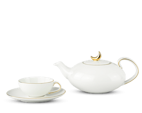 Tea set 0.47 L - Anna - Gold line - Moony Peace Crescent