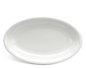 Flat oval plate 32 cm - Daisy LY'S - White Ivory