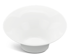 Flare medium bowl 24 cm - Gourmet LY'S - White Ivory